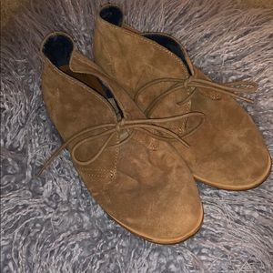 Like New Lucky Brand suede booties.